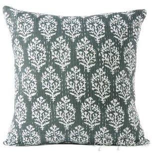 Black/Grey/Indigo Print Kantha Decorative Boho Throw Couch Cushion Pillow Cover - 16""