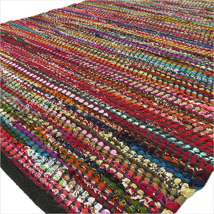 boho decorative x woven chindi rag to bohemian blk colorful eyes white india rug dom black multicolor of rugs