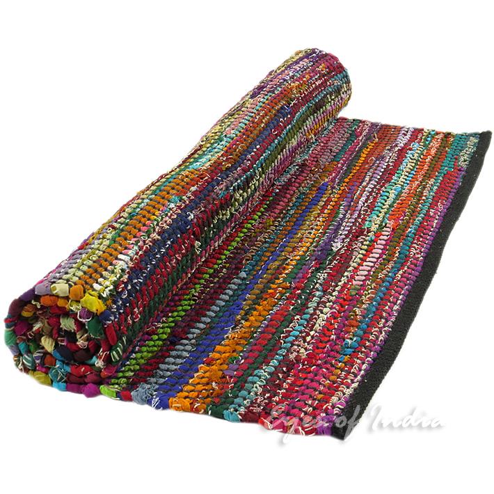Rag Rug Prices: Black Rag Rug, Black Bohemian Rug
