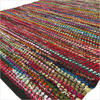 Black Decorative Colorful Woven Chindi Bohemian Boho Rag Rug - 3 X 5 to 5 X 8 ft 1