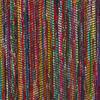 Black Decorative Colorful Woven Chindi Bohemian Boho Rag Rug - 3 X 5 to 5 X 7 ft 4