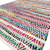 White Colorful Chindi Woven Decorative Bohemian Boho Multicolor Rag Rug - 2 X 3 to 6 X 9 ft. 1
