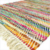 White Colorful Chindi Woven Decorative Bohemian Boho Multicolor Rag Rug - 3 X 5 to 5 X 7 ft. 1