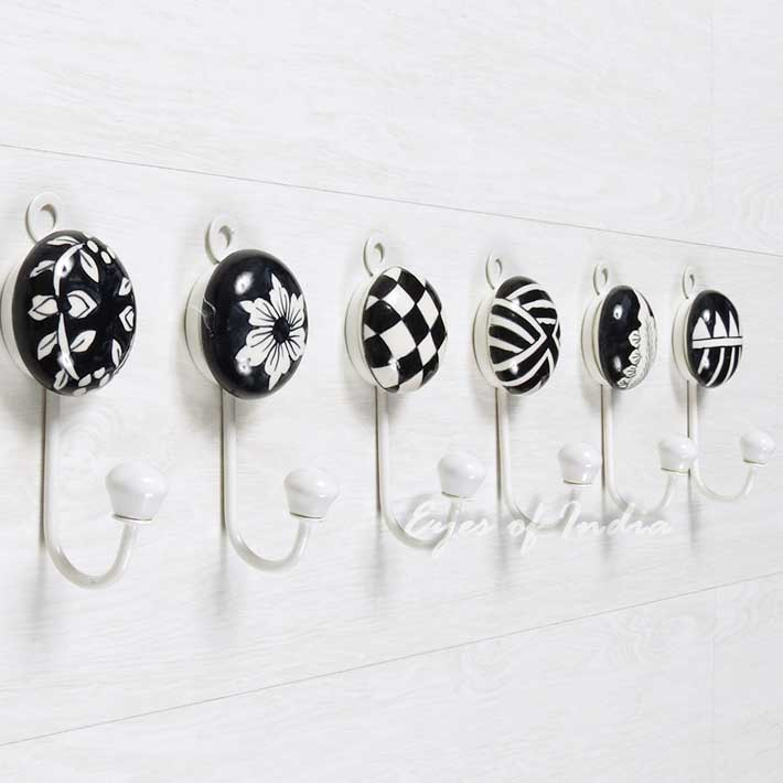 Ceramic Wall Hooks, Colorful Decorative Hooks | Decorative Coat ...