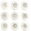 White Embossed Ceramic Decorative Shabby Chic Dresser Cabinet Cupboard Knobs Pulls 1
