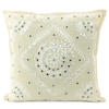 "White Mirror Embroidered Colorful Decorative Sofa Bohemian Couch Throw Pillow Cushion Cover - 16, 24"" 1"