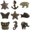 Brass Molded Decorative Shabby Chic Dresser Cabinet Cupboard Knobs Pulls 1