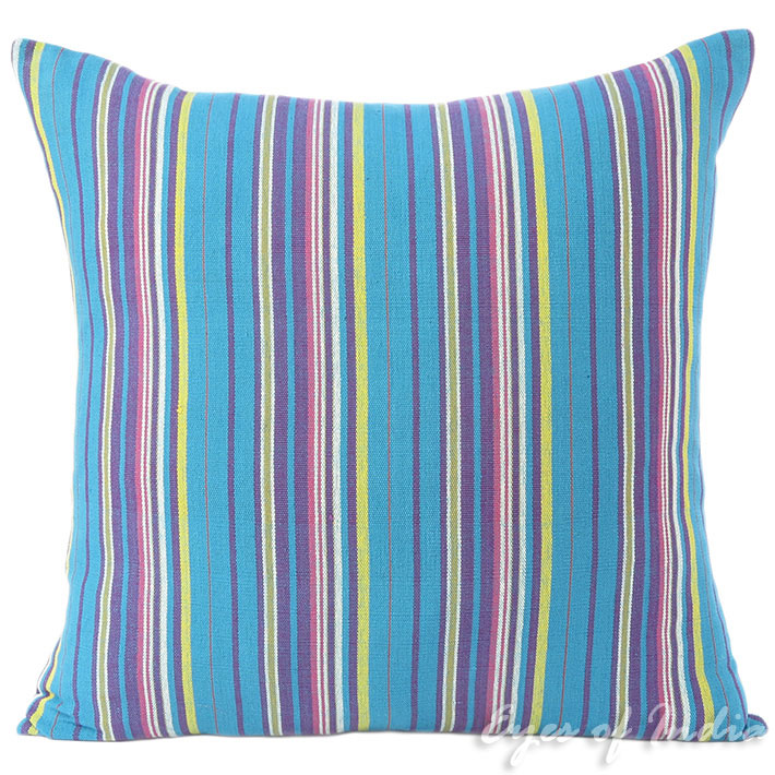 Details About 16 24 Blue Purple Yellow Dhurrie Decorative Pillow Cushion Cover Throw Sofa