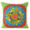 "Embroidered Colorful Decorative Boho Couch Throw Pillow Bohemian Sofa Cushion Cover - 16, 18"" 1"
