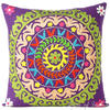 """Purple Colorful Decorative Embroidered Boho Sofa Cushion Bohemian Throw Couch Pillow Cover - 16, 18"""" 1"""