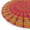 "Burgundy Red Mandala Floor Pillow Cover Meditation Cushion Seating -32"" 6"