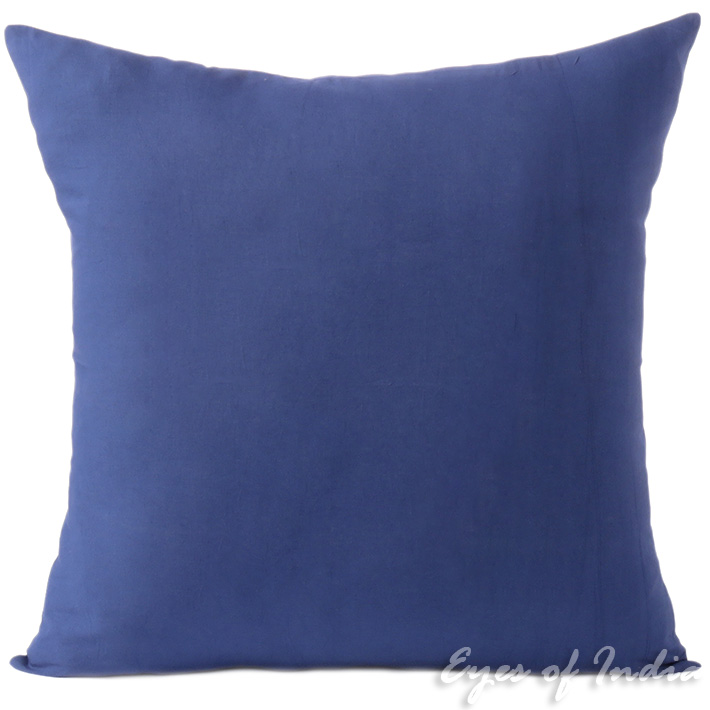 Blue Cotton Decorative Colorful Couch Sofa Cushion Pillow Throw Cover - 16 to 24""