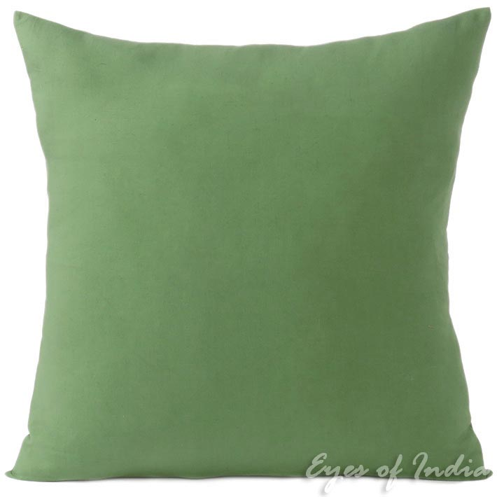 """Green Cotton Decorative Colorful Couch Sofa Cushion Pillow Throw Cover - 16 to 24"""""""