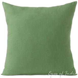 Green Cotton Decorative Colorful Couch Sofa Cushion Pillow Throw Cover - 16 to 24""