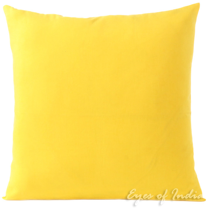 Yellow Cotton Decorative Colorful Couch Sofa Throw Pillow Cushion Cover - 16 to 24""