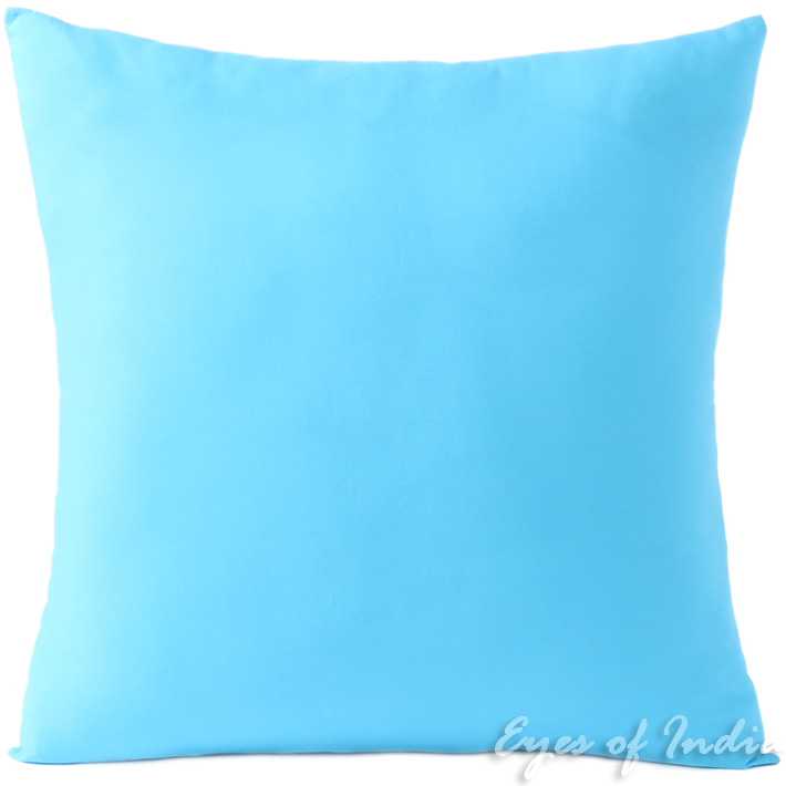 Blue Decorative Colorful Cotton Couch Sofa Cushion Pillow Throw Cover - 16, 20, 24""
