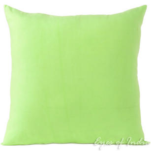 Green Cotton Decorative Colorful Sofa Couch Cushion Pillow Throw Cover - 16, 20, 24""