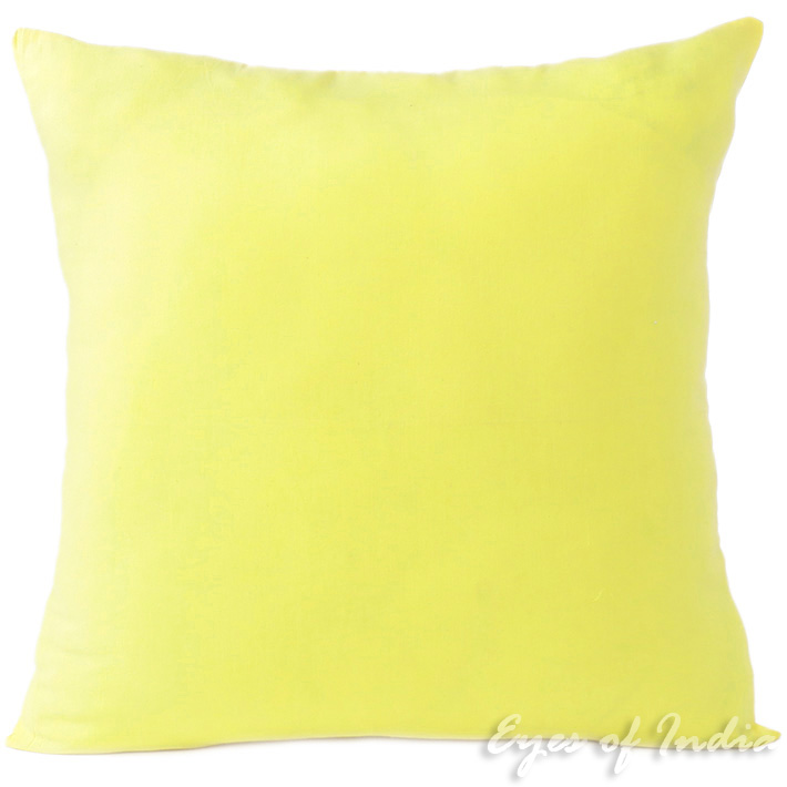 Yellow Cotton Decorative Colorful Couch Sofa Cushion Pillow Throw Cover - 16, 20, 24""