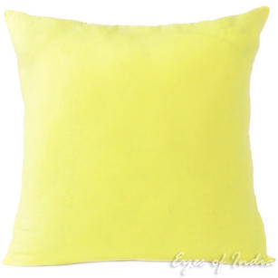 Yellow Cotton Decorative Colorful Couch Sofa Cushion Pillow Throw Cover - 16 to 24""