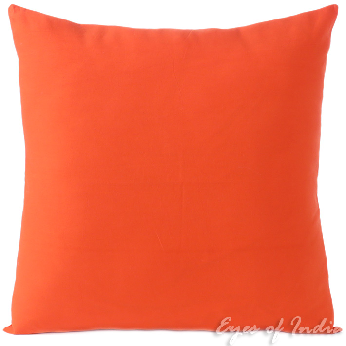 Orange Cotton Decorative Colorful Couch Sofa Cushion Pillow Throw Cover - 16 to 24""