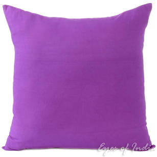 Purple Cotton Decorative Colorful Couch Sofa Cushion Pillow Throw Cover - 16 to 24""