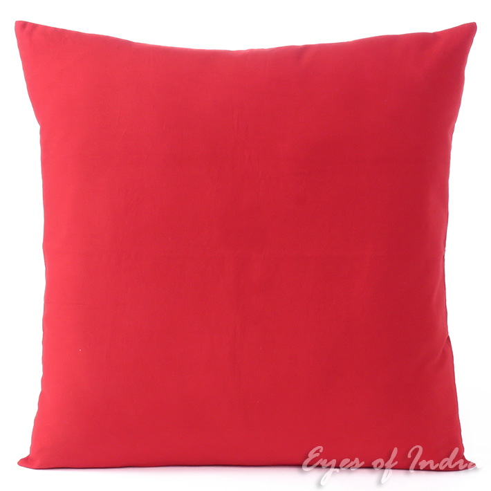 Red Cotton Decorative Colorful Cushion Pillow Couch Sofa Throw Cover - 16 to 24""