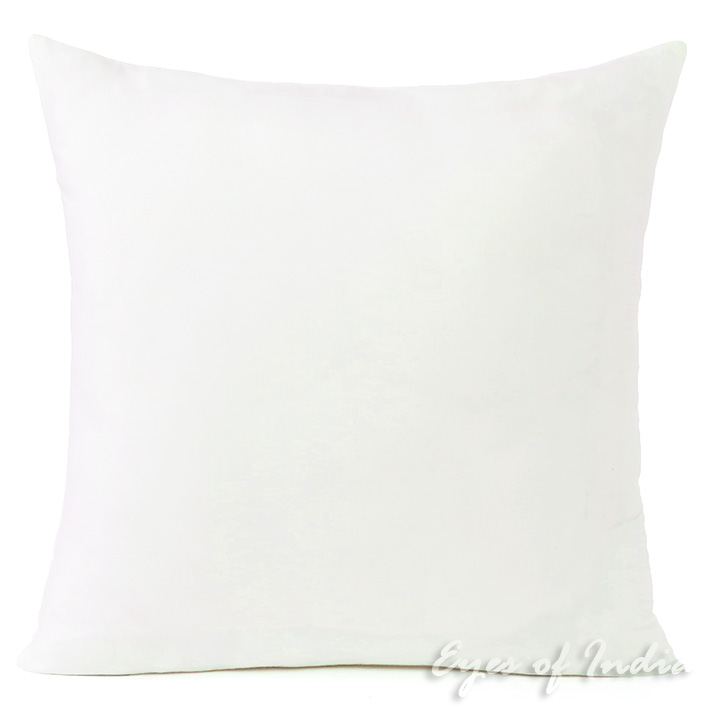 Off-White Cotton Decorative Colorful Cushion Pillow Couch Sofa Throw Cover - 16 to 24""