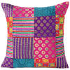 "Colorful Brocade Vintage Kantha Throw Sofa Boho Bohemian Couch Cushion Pillow Cover - 16, 24"" 1"