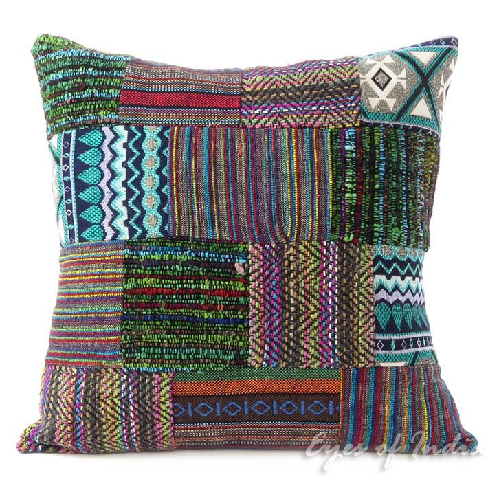 Prime Purple Dhurrie Patchwork Colorful Decorative Bohemian Sofa Throw Boho Cushion Couch Pillow Cover 16 Pdpeps Interior Chair Design Pdpepsorg
