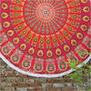 "Roundie Beach Picnic Spread Mandala Hippie Tapestry Throw Boho Wall Hanging - 72"" 1"