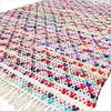 Colorful Bohemian White Multicolor Handmade Chindi Decorative Boho Woven Rag Rug - 3 X 5 to 5 X 8 ft 1