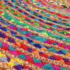 Round Colorful Natural Jute Chindi Sisal Woven Area Braided Boho Rug - 4 to 8 ft 4