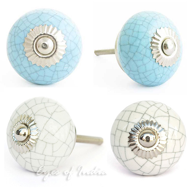 Superieur Cracked Ceramic Cabinet Dresser Cupboard Door Knobs Pulls Decorative Shabby  Chic