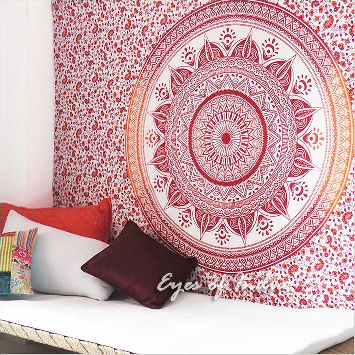 Petit Simple Mandala Ombre Tenture Murale Boheme Plage Boho Ind Ebay