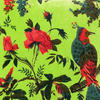 "Green Boho Bohemian Velvet Decorative Bird Throw Sofa Cushion Pillow Cover - 16, 24"" 2"