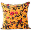 "Yellow Orange Velvet Colorful Decorative Bird Throw Sofa Cushion Boho Bohemian Couch Pillow Cover - 16"", 20"", 24"" 1"