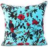 "Blue Velvet Colorful Decorative Bird Throw Sofa Cushion Couch Pillow Boho Bohemian Cover - 16"", 20"", 24"" 1"