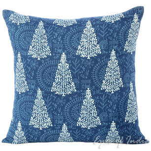 Indigo Blue Decorative Throw Sofa Boho Cushion Couch Pillow Cover - 16""