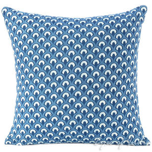 Indigo Blue Colorful Decorative Sofa Throw Cushion Couch Bohemian Pillow Cover - 16""