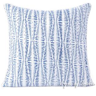 Indigo Blue Printed Kantha Couch Boho Pillow Bohemian Cushion Cover Sofa Colorful Throw - 16, 24""
