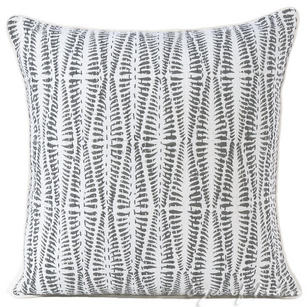 Grey Printed Kantha Throw Couch Sofa Boho Pillow Cover Bohemian Cushion - 16, 24""