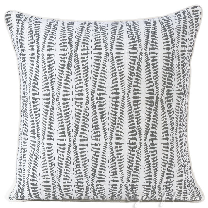 Fantastic Details About Grey Printed Kantha Throw Sofa Couch Pillow Cushion Cover Bohemian Boho Decor Pdpeps Interior Chair Design Pdpepsorg