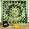 Sun and Moon Boho Hippie Tapestry Wall Hanging Bohemian Bedspread - Queen/Double