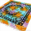 Colorful Tie Dye Hippie Sun and Moon Bohemian Boho Tapestry Hanging - Large/Queen 2