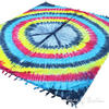 Peace Sign Hippie Tie Dye Tapestry Wall Hanging Bedspread with Fringes - Queen/Double 3