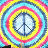 Peace Sign Hippie Tie Dye Tapestry Wall Hanging Bedspread with Fringes - Queen/Double 2