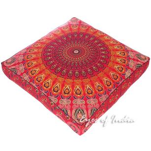 Large Oversized Mandala Boho Square Floor Meditation Pillow Cushion Pouf Dog Bed Seating Cover - 35""