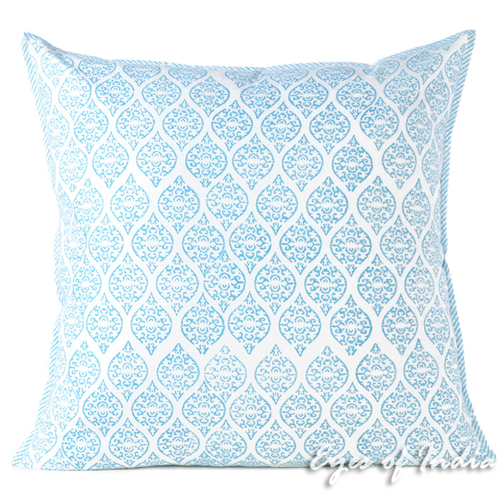 Blue Decorative Colorful Pillow Cushion Cover Sofa Throw Bohemian Boho - 24""
