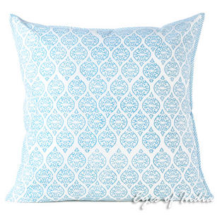 Blue Decorative Colorful Couch Pillow Cushion Cover Sofa Throw Bohemian Boho - 24""