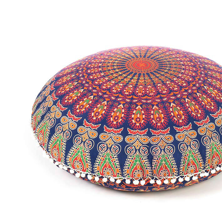"Mandala Floor Pillow Cover Meditation Cushion Seating Decorative Accent Boho dog bed Indian Pouf Ottoman - 32"""